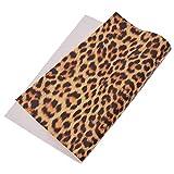 Kesheng A4 PU Stoff Gewebe Textilien Leopard Muster Farbig
