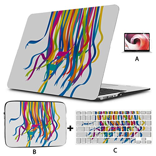Macbook Air Laptop Case Colorful Bright Ribbon Macbook Case Hard Shell Mac Air 11'/13' Pro 13'/15'/16' With Notebook Sleeve Bag For Macbook 2008-2020 Version