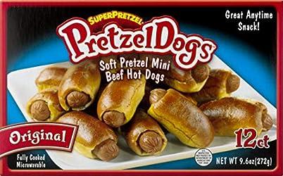 SUPERPRETZEL Pretzel Dogs, 9.6 Ounce (Frozen)