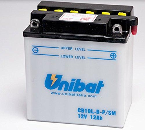 BATTERIA MOTO UNIBAT 11AH 12V CB10L-B-PSM CB10LBPSM VESPA BEVERLY SCOOTER