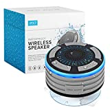Bluetooth Shower Speaker by Johns Avenue. Waterproof - Wireless - Portable Speaker with Strong Suction Cup and LED Mood Lights