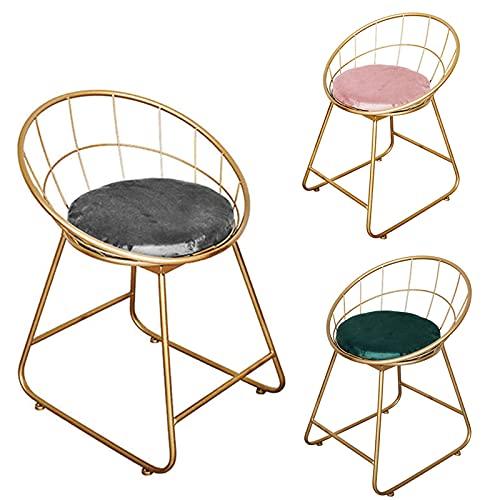 Simplicidad creativa ambiente simple dormitorio maquillaje taburete con respaldo hueco silla de salón cómoda sala de estar Cortex mesa de comedor silla antideslizante