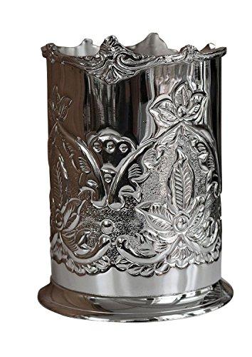 aubaho Sektkühler Flaschenkühler Weinkühler Metall Champagnerkühler Antik-Stil 17cm