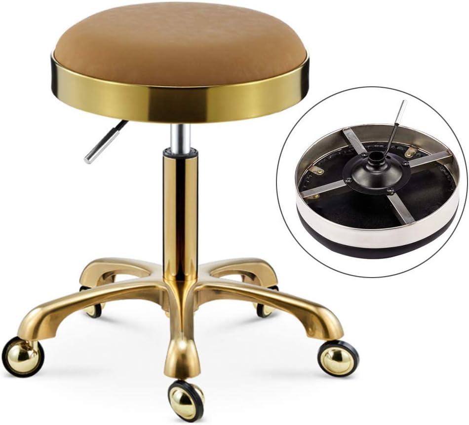SXRDZ Tabouret avec Smooth Rollers Coiffure Chaise à 360 degrés pivotant Siège Lourd hydraulique réglable en Hauteur Haut Ciseaux de Coiffure Tabouret, 1 (Color : 10) 23