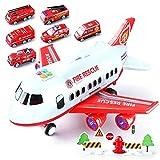 WXZQ 18 unids/Set Juguetes para niños simulación Gran Modelo de avión Juguetes de aleación Modelo de Coche de policía Juguetes de estacionamiento Juguetes de Lucha contra Incendios
