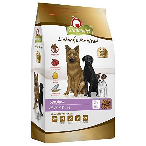GranataPet Lieblings Mahlzeit Trockenfutter Sensitive Ente, 1er Pack (1 x 10 kg)