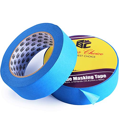 Bates- Painters Tape, 1.4 inch Paint Tape, 2 Pack of Painter Tape, Painting Tape, Masking Tape, Blue Masking Tape, Painting Supplies, Wall Safe Tape, Paint Tape, Blue Painter Tape, Tape for Drop Cloth
