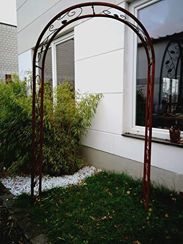 Zen Man Edelrost Garten Rosenbogen Rost aus Metall Gartendeko Rankhilfe Spalier Rost Rosenranke Handarbeit 120 * 30 * 220cm 031473-1