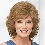 Long Color Me Beautiful WhisperLite Wig by Paula Young - Long, Soft Wispy Layers with Sides Brushed Forward Or Back For A Natural Look/Multi-tonal Shades of Blonde, Silver, Brown, and Red