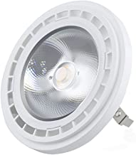 AC/DC 12V AR111 G53 LED Spotlight, Aluxcia 12W ES111 AR111 LED G53 Reflector Light 100W Halogen Bulb Replacement for Landscape, Home and Commercial Lighting, Warm White 2700K, 1-Pack