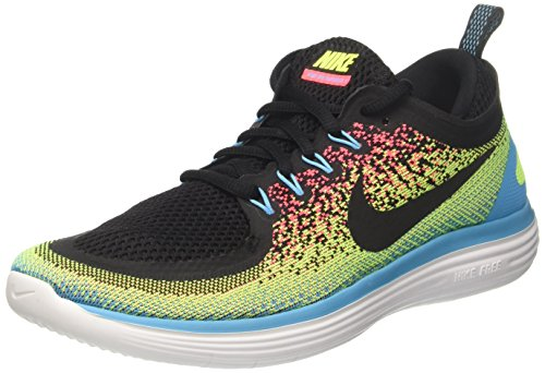 Nike Men's Free RN Distance 2 Mens Running Shoes, Volt/Black Size 9 US