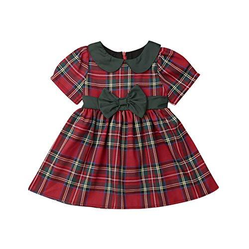 Wide.ling Vestidos de Navidad para niñas pequeñas, con diseño de Cu