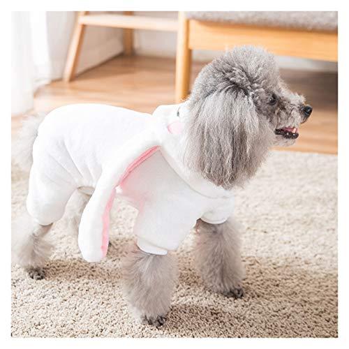 Ropa Linda del Perro del otoo y del Traje de Perro de Peluche Espesa la Hiromi Bichon Perros pequeos de Cumplir Cuatro Patas Suministros Divertida del Animal domstico (Color : White-XXL)