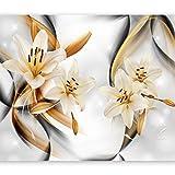murando Fotomurales Flores Lirios 300x210 cm XXL Papel pintado tejido no tejido Decoración de Pared decorativos Murales moderna Diseno Fotográfico Naturaleza Abstracto b-a-0267-a-b