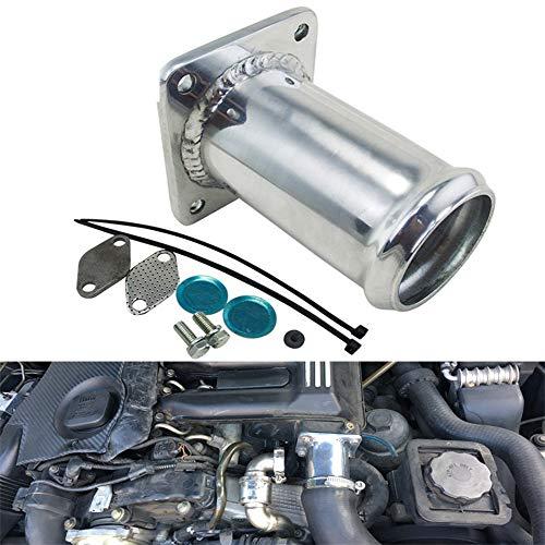 Alluminio Kit EGR Rimozione/Valvola EGR Elimina Kit Tubo Bypass Cieca per BMW E46 318D 320D 330D 330Xd 320Cd 318Td 320Td, Ricircolo dei Gas di Adatto per Land Rover TD4, TD6