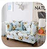 Memoirs- 1pc Spandex Sofa Cover Stretch Couch Corner Cover Sofa Slipcovers Protector Single Loveseat Sectional Sofa Covers for Home Decor,Color 22,45-45cm Pillowcase-2