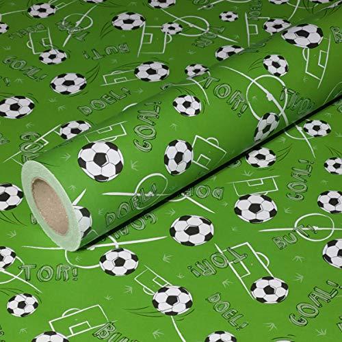 50m x 0,40m JUNOPAX® Geschenkpapier Fußball