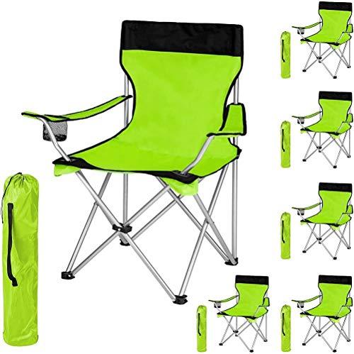 Woodtree Silla Plegable de Camping tapizados con Soporte for Bebidas y el Bolso cantidad Paquete -, Tamaño: 2 Piezas, Color: Negro-Verde. (Color : Black-Green, Size : 1 pc.)