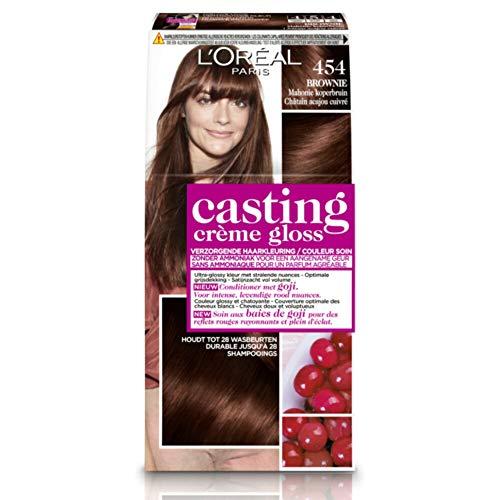 L'Oréal Paris Casting Crème Gloss 454 Mahagoni Kupfer Brownie Brown - Haarfärbemitteln