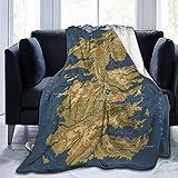 Game of Thrones Map Ultra-Soft Micro Fleece Reversible Fleece Throw Blanket Warm Lightweight for Bed Sofa Living Room