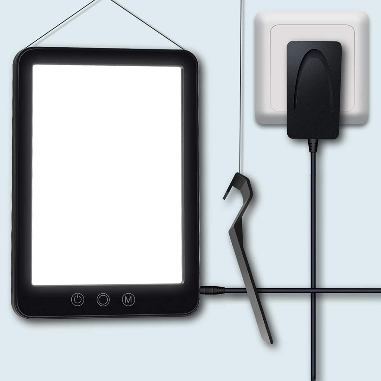 Glückliche Lichttherapie-Lampe LED Helles weies Therapielicht mit Touch Control und 3 Helligkeit einstellbar, für Büro Wohnzimmer Küche Nachttisch