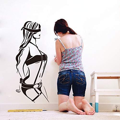 Jsnzff Pulsera de niña Etiqueta de la Pared Habitación de niña Chica Mujer Etiqueta de la Pared Dormitorio Decoración de la Boda 84x34cm Texto de Color Personalizable