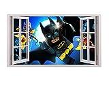 3D Fenster Kinder-Lieblings-Charaktere Wandtattoo, Vinyl, Motiv: Wandkunst, Customise4UTM ( batman & robin window)