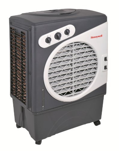 Honeywell CO60PM Evaporative Air Cooler For Indoor & Outdoor Use, 1540 CFM - 15.9 Gallon Tank, White/Gray