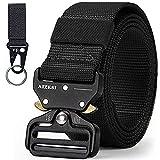 Aizesi - Cinturón táctico de nailon, resistente con hebilla de metal de liberación rápida, cinturón militar regalo para padre, hermano, amigos