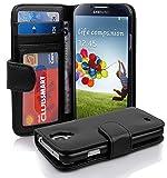 Cadorabo Funda Libro para Samsung Galaxy S4 en Negro ÓXIDO - Cubierta Proteccíon con Cierre Magnético e 3 Tarjeteros - Etui Case Cover Carcasa