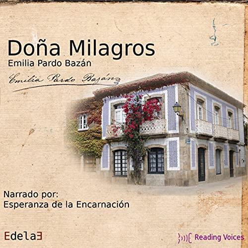Diseño de la portada del título Doña Milagros
