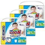グーン (GOO.N) やわらかフィットパンツ Sサイズ (5~9kg) (78枚入×3パック)