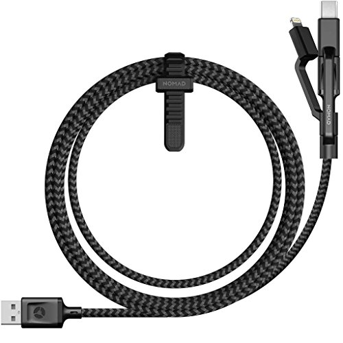 Nomad Ultra Rugged Universal Micro USB/USB Type-C/Lightning Cable USB Negro adaptador de cable