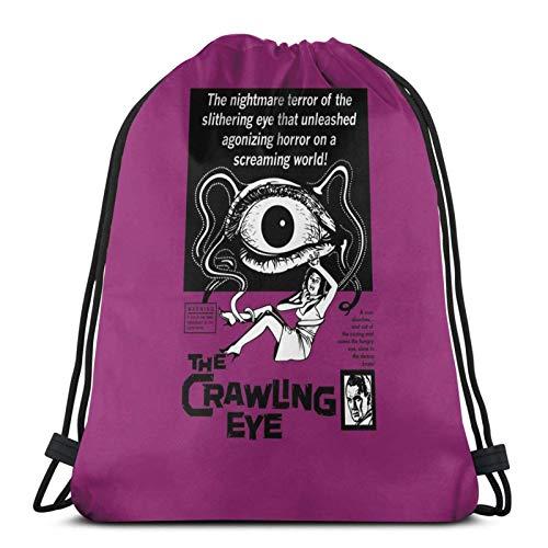 The Crawling Eye B & Amp W Print Sport Sackpack Zaino con coulisse Borsa da palestra