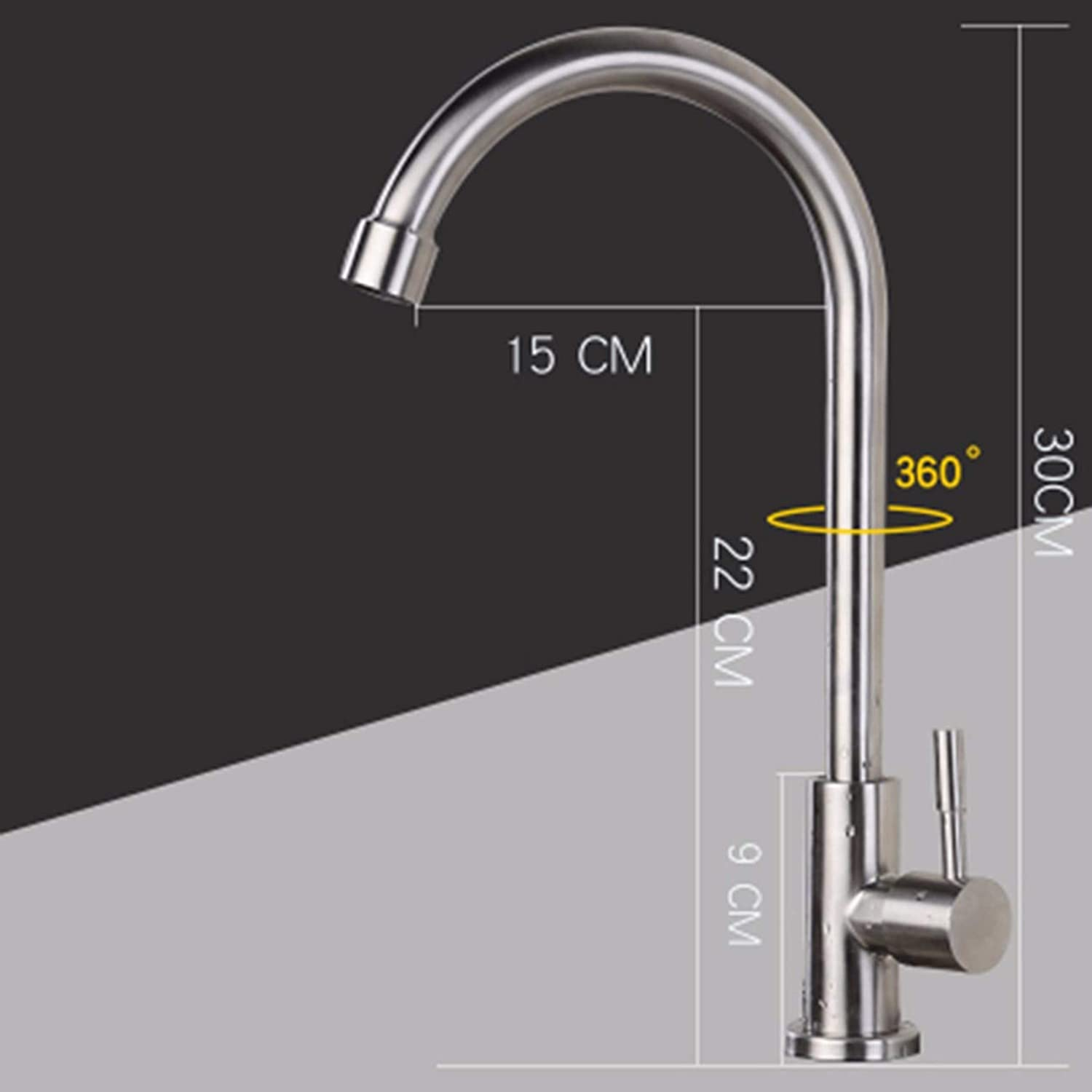 Kitchen tap All Copper Hot And Cold Household Kitchen Faucets, Vegetable Basin, redary Sink, Washbasin, Water Mixing Valve Halter,B