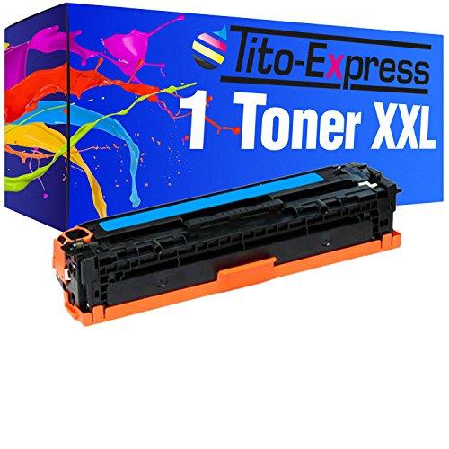 Tito-Express PlatinumSerie 1 Toner XXL Cyan für HP CF211A Laserjet Pro 200 Color M251N 200 Color M251NW 200 Color M276N 200 Color M276NW