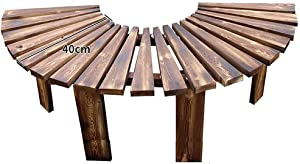 Garden Bench Outdoor Wooden Bench Fan-Shaped Bench,Circular Tree Garden Tree Bench,Solid Wood Bench Backless Bench