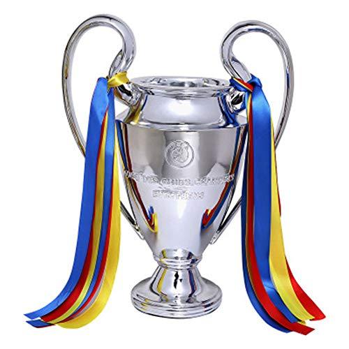 Champion Trophäe Fußball League Trophäe Gold Dekoration Basteln Modell Ornamente Fußball Spiel solide stabil nicht leicht korrodieren Geschenk Erwachsene Kinder, farbe, 44 cm