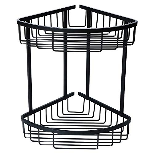Lowest Price! LUOTIANLANG Corner Shelf Bathroom Storage Box 2-Tier Shower Basket Brass Corner Shower...