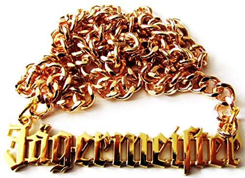 Jägermeister - Kette mit Panzergliedern - Goldfarbend