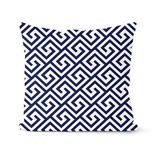 PPMP Fodera per Cuscino Blu Scuro Fodera per Cuscino Geometrica Cuscino Decorativo Decorazione per la casa Federa per Cuscino Fodera per Cuscino A13 45x45cm 1pc