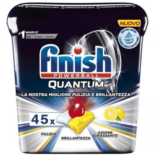 Finish Quantum Ultimate 45 unidades limón lavavajillas suciedad obstinado