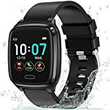 Fitness Tracker, L8star Smart Watch Heart Rate Monitor ,Sleep Monitor,Calorie Counter, 1.3'' Color Touch Screen Activity Tracker with 6 Sports Mode for Women Men, Android iOS