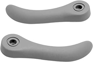 Seat Adjuster Release Handle LH Driver Side & RH Right Passenger Side Front Seat Recliner Adjustment Handle for Chevrolet Colorado GMC Canyon Chevrolet SSR Hummer H3 12473018 89039102 (Gray)