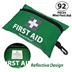 General Medi Mini First Aid Kit,92 Pieces Small First Aid Kit - Includes Emergency Foil Blanket, Scissors for Travel… 4