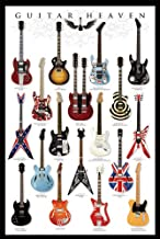 Guitar Heaven - Poster (Collection Of Classic Guitars, Strat, Tele, Les Paul, PRS, Flying V...) (Size: 24