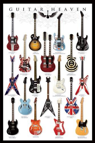 Pirámide Internacional Guitarra Heaven Póster, Multicolor, 61x 91,5x 1,3cm