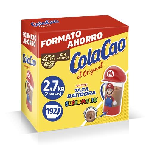 Cola Cao Original, Con Cacao Natural-Batidora Mario, Chocolate, 2.7 Kg