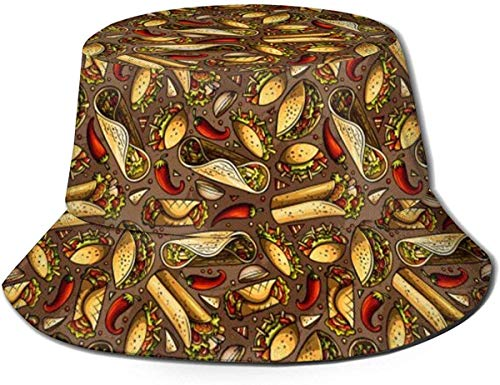 Trushop Cappello Unisex Cappello da Pescatore Latino Americano Messicano Cappello da Pescatore Cappello da Esterno Cappello da Sole Protezione UV Cappello da Viaggio Traspirante Leggero Pieghevole Ne