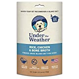 Under the Weather Pets All Natural Freeze Dried Dog Food with Bone Broth for Sick Dogs & Dogs with Sensitive Stomachs; Gluten-Free, Electrolytes & 100% Human Grade Meat (Rice, Chicken & Bone Broth)